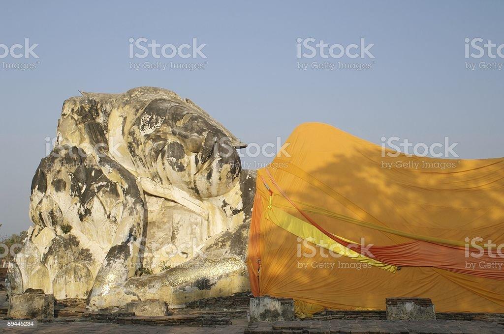 Reclining Buddha Ayutthaya Thailand royalty-free stock photo
