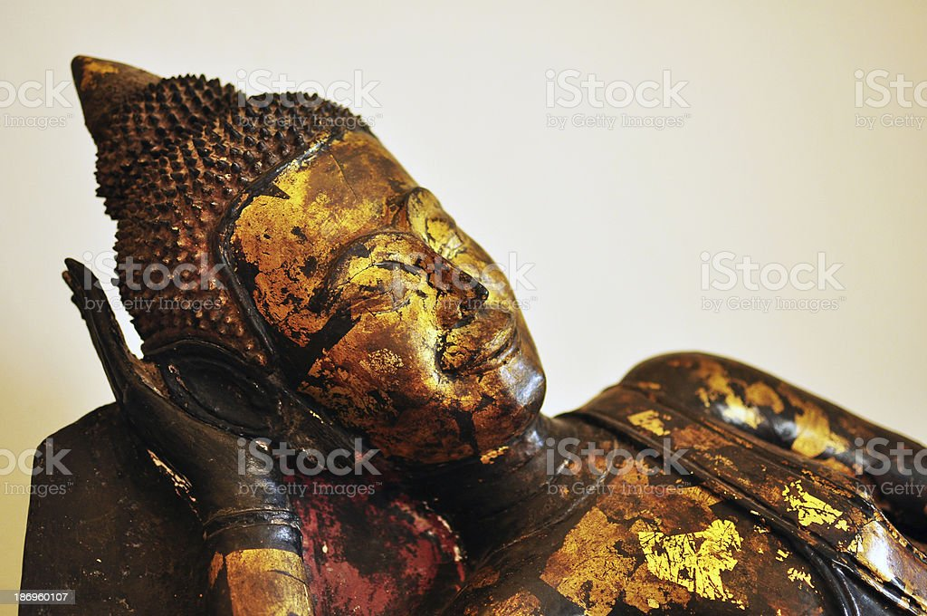 reclining Buddha image royalty-free stock photo