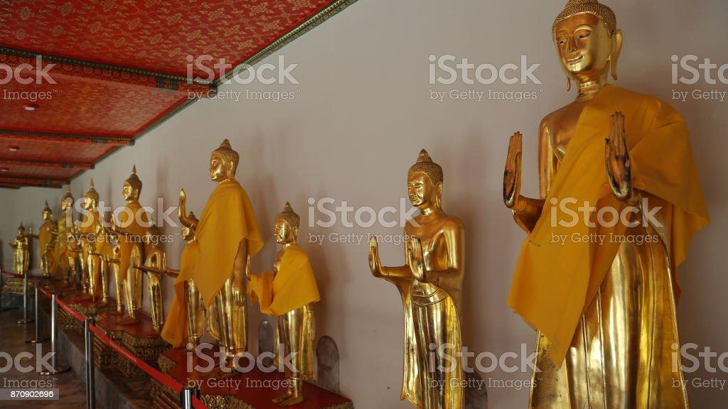 Reclining Buddha or Wat Pho stock photo