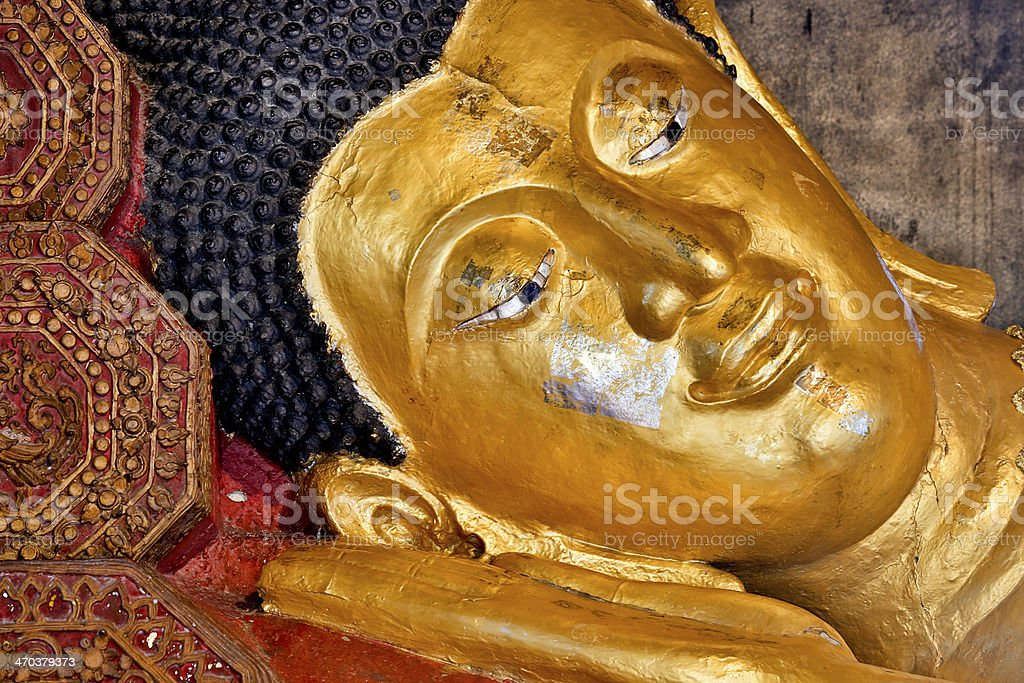 Reclining Buddha royalty-free stock photo