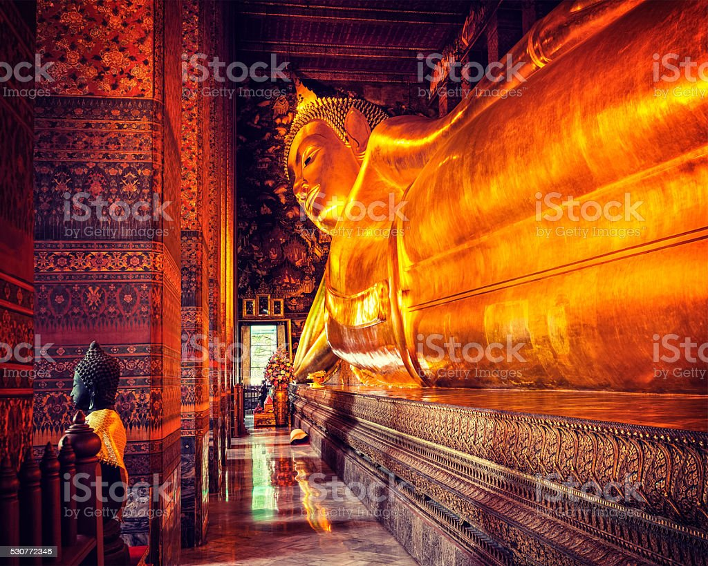Reclining Buddha, Thailand stock photo