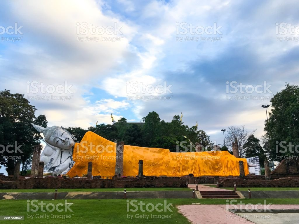 Reclining Buddha, Thailand royalty-free stock photo