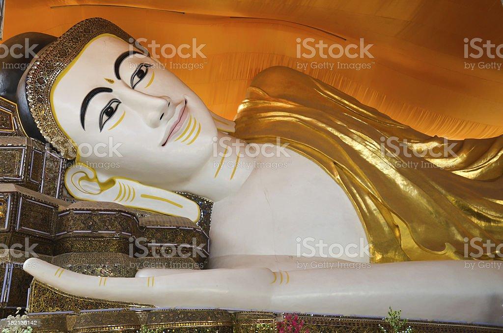 Reclining myanmar buddha royalty-free stock photo