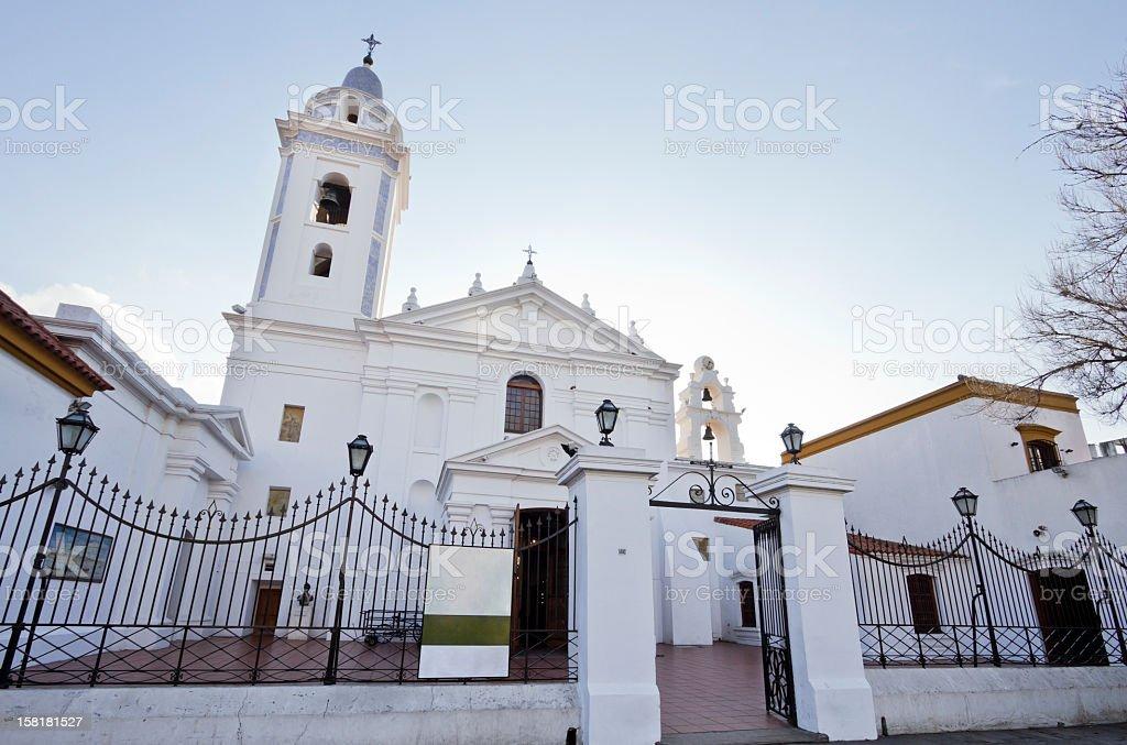 Recoleta Buenos Aires Church stock photo