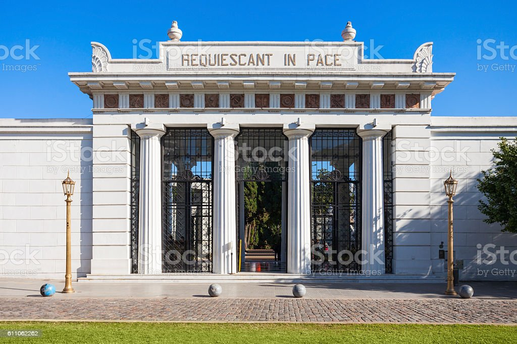 Recoleta Cemetery, Buenos Aires stock photo