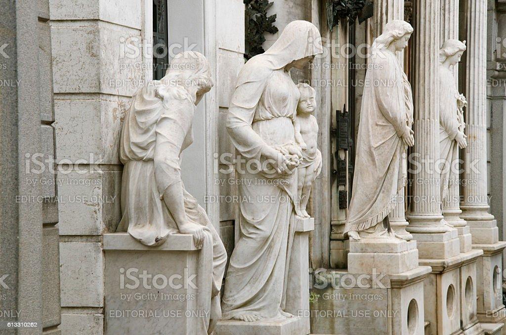 Recoleta Cemetery in Buenos Aires stock photo