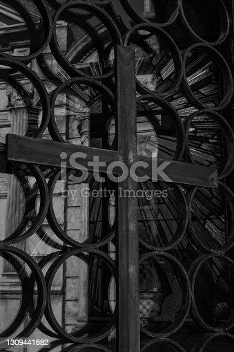 Fotos en blanco y negro del cementerio
