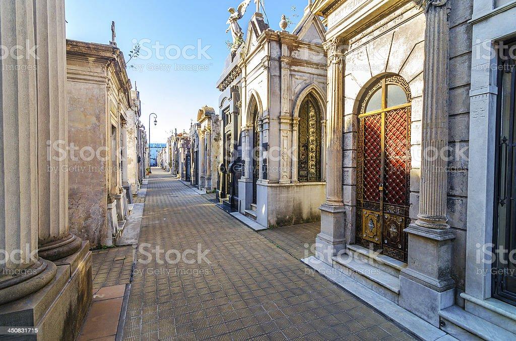 Recoleta Cemetery stock photo
