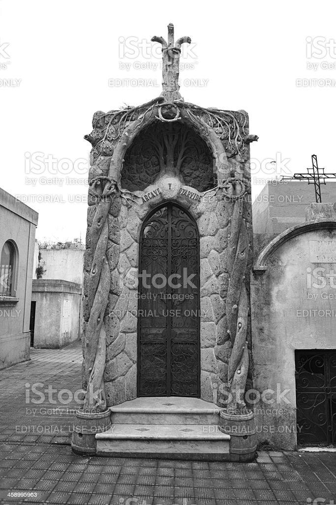Recoleta Cemetery royalty-free stock photo