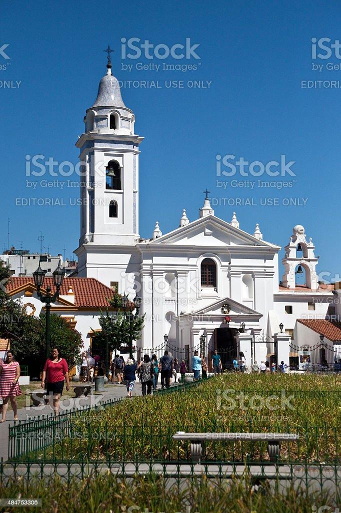 Recoleta Igreja de Nuestra Señora del Pilar em Buenos Aires - foto de acervo