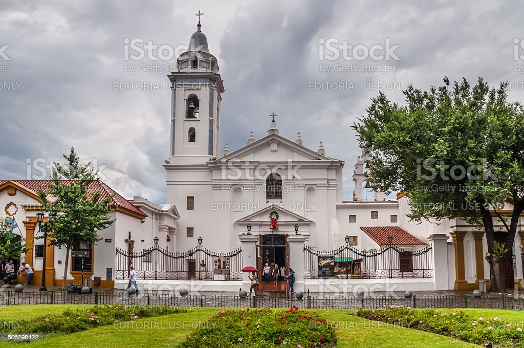 Recoleta Nuestra Senora del Pilar Church in Buenos Aires stock photo