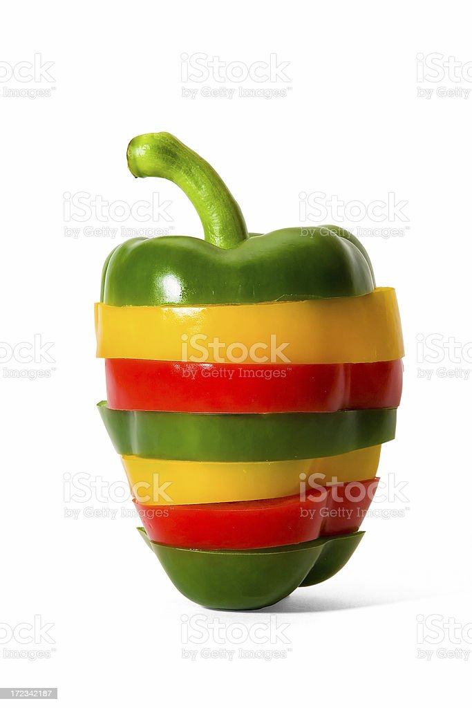 Reconstructed Pepper royalty-free stock photo