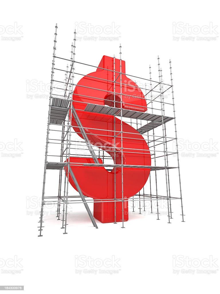 Reconstructing the Dollar royalty-free stock photo