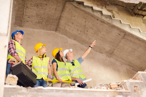Reconstruction After Disaster stock photo