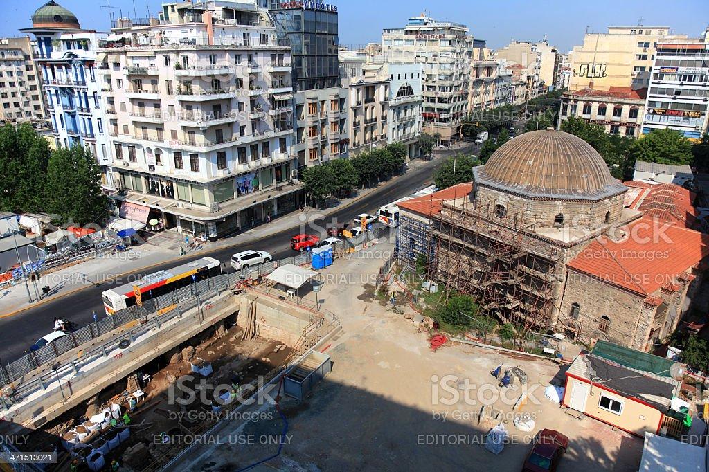 Reconstruction of Hamza Bey Mosque (Alkazar) royalty-free stock photo