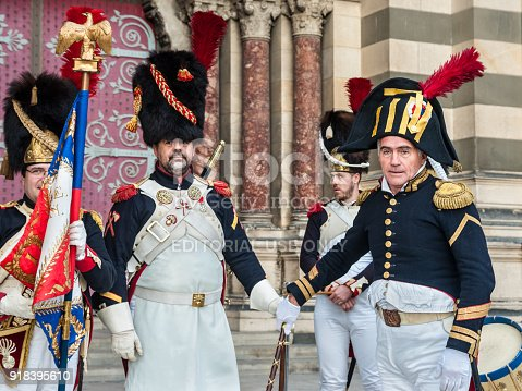 istock Reconstruction of historic event in Marseille, France 918395610
