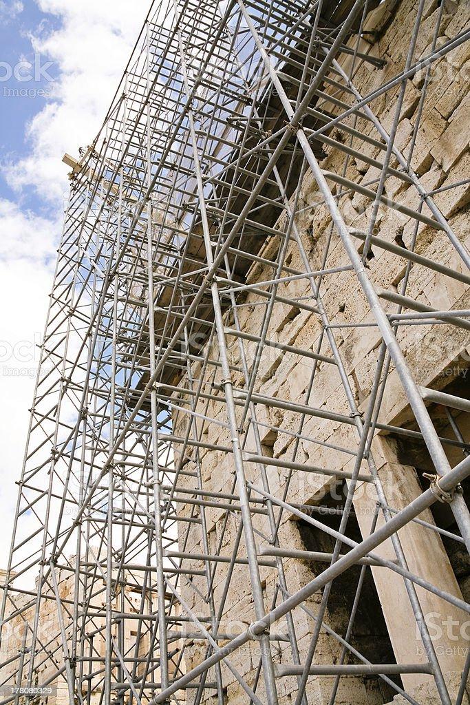 reconstruction of Parthenon, Athens royalty-free stock photo
