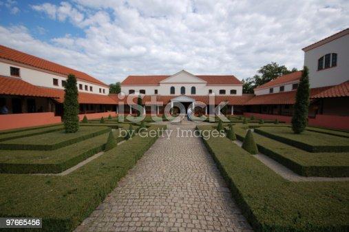 istock reconstruction of roman villa in borg (Germany) 97665456