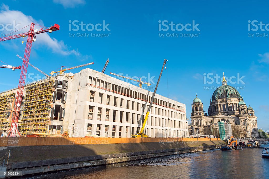 Reconstruction of the Berlin castle stock photo