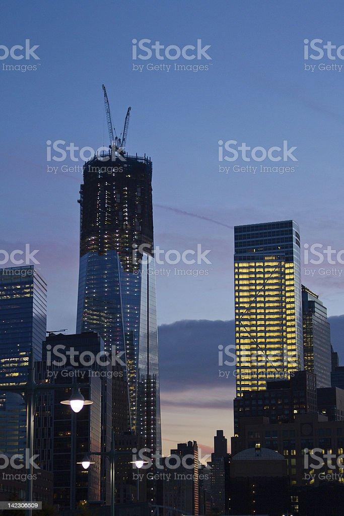 Reconstruction on Ground Zero II stock photo