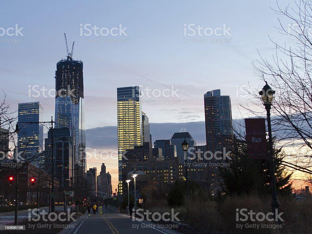 Reconstruction on Ground Zero stock photo