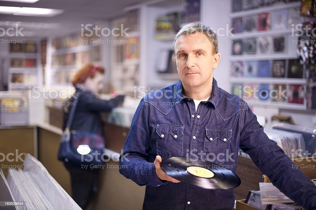 record collector stock photo