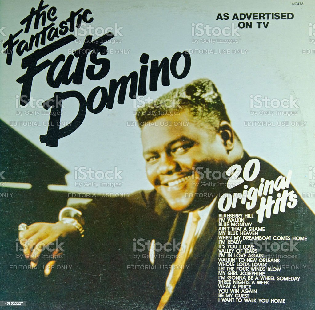 LP Record Cover by Fats Domino stock photo