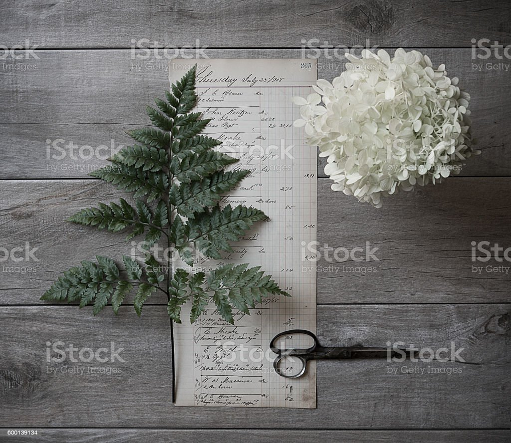 Record Keeping stock photo