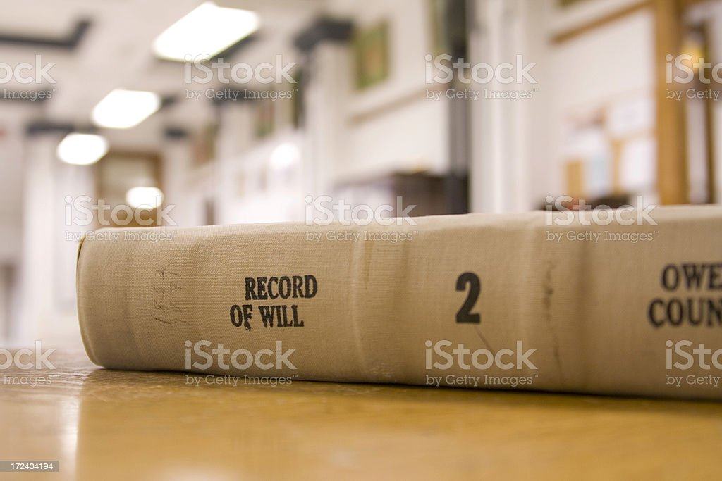 Record of Will royalty-free stock photo