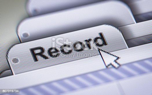 istock Record 807319734