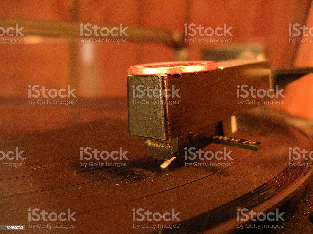 Record Player Arm & Needle stock photo