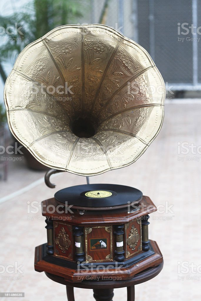 record player royalty-free stock photo