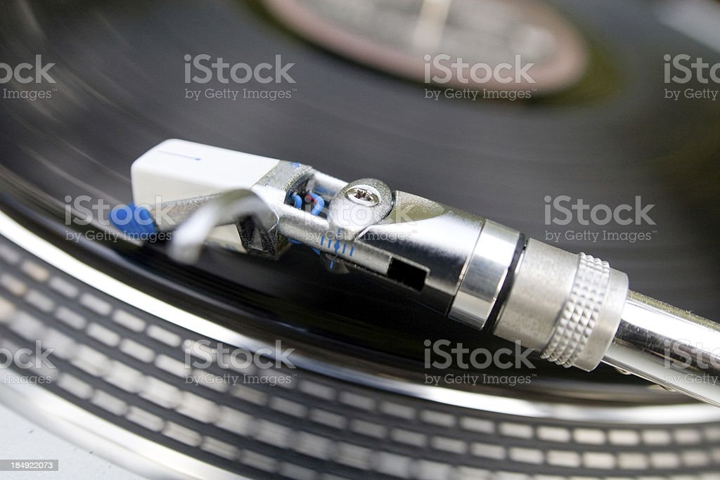 Record player with focus on the head & dj royalty-free stock photo