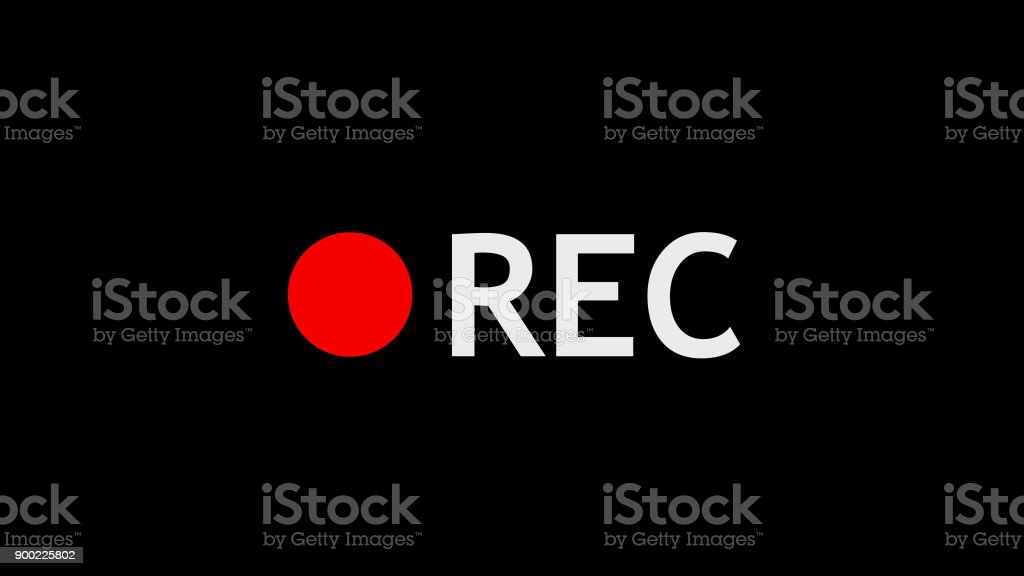 Record symbol. Digital illustration stock photo