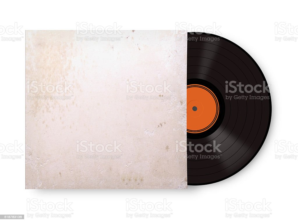 record vinyl stock photo
