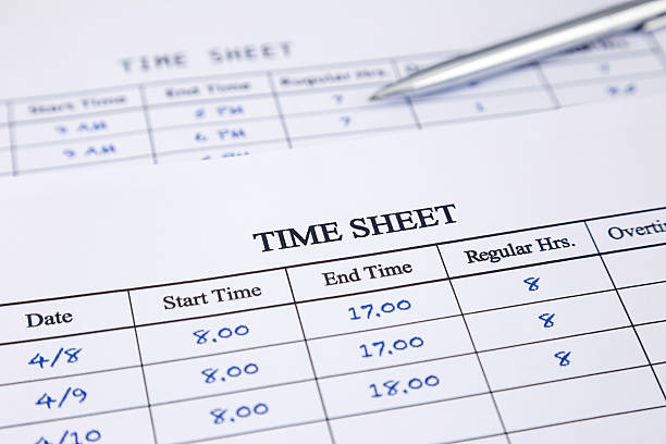 Record working times stock photo