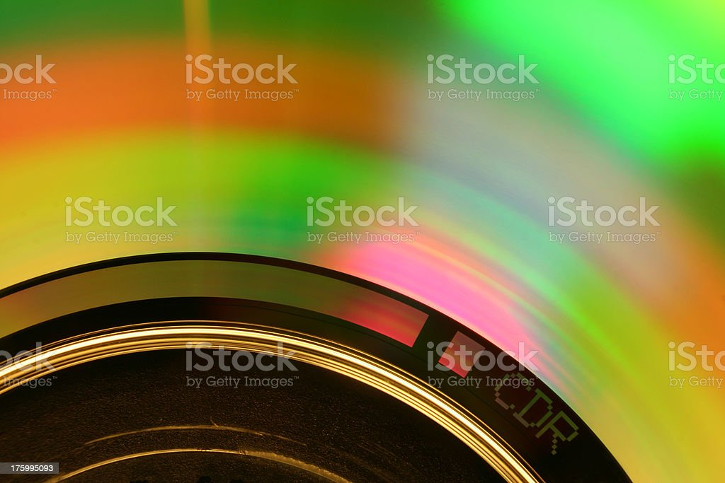 Recordable CD Rom (Macro) royalty-free stock photo