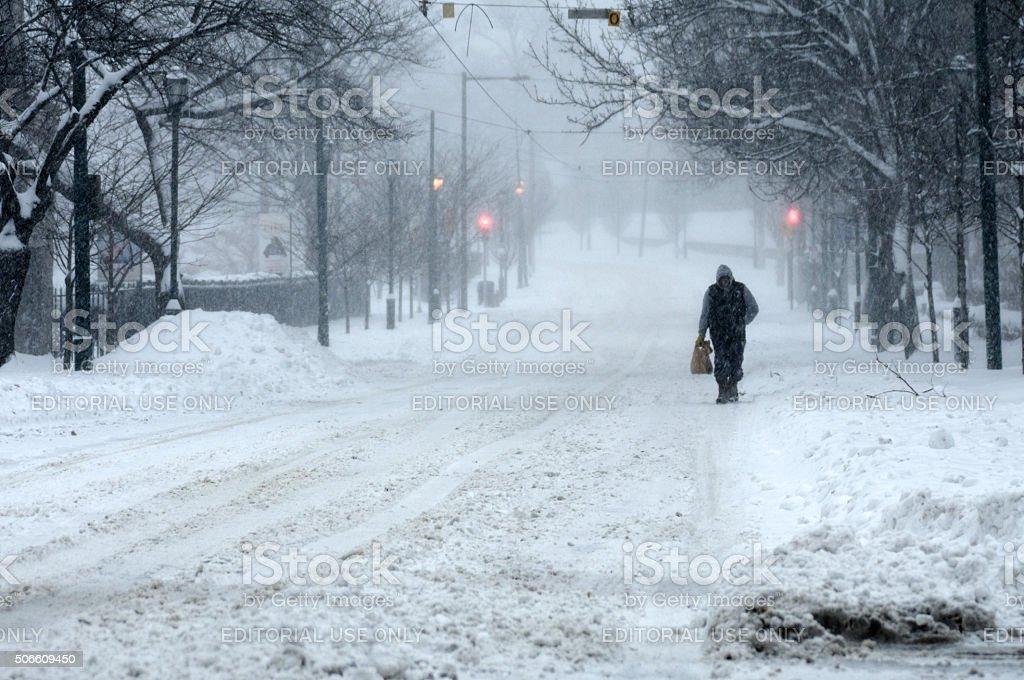Record-breaking Snowfall Hits U.S. East Coast royalty-free stock photo