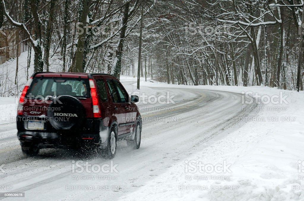 Record-breaking Snowfall Hits U.S. East Coast stock photo