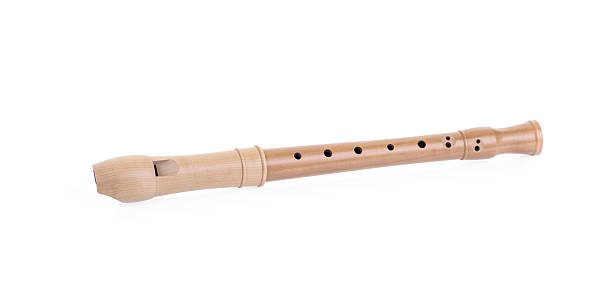 recorder isolated on white. - recorder stock photos and pictures