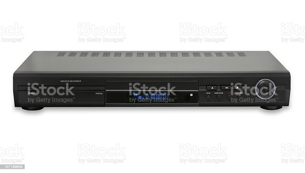 DVD HDD recorder&player, isolated on white background royalty-free stock photo