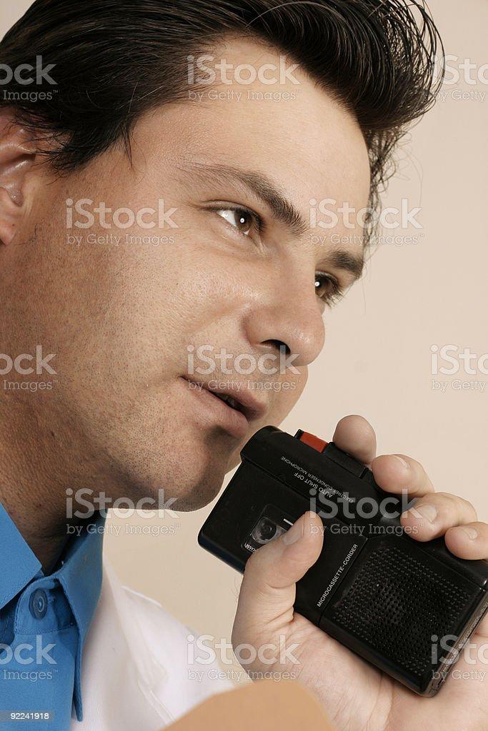 Recording information stock photo