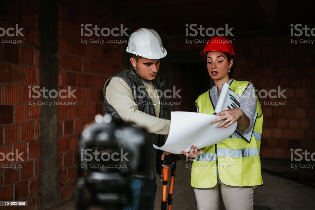 Engineers on Construction site