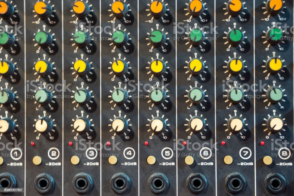 Recording mixe stock photo