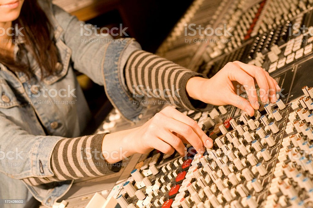 recording music stock photo