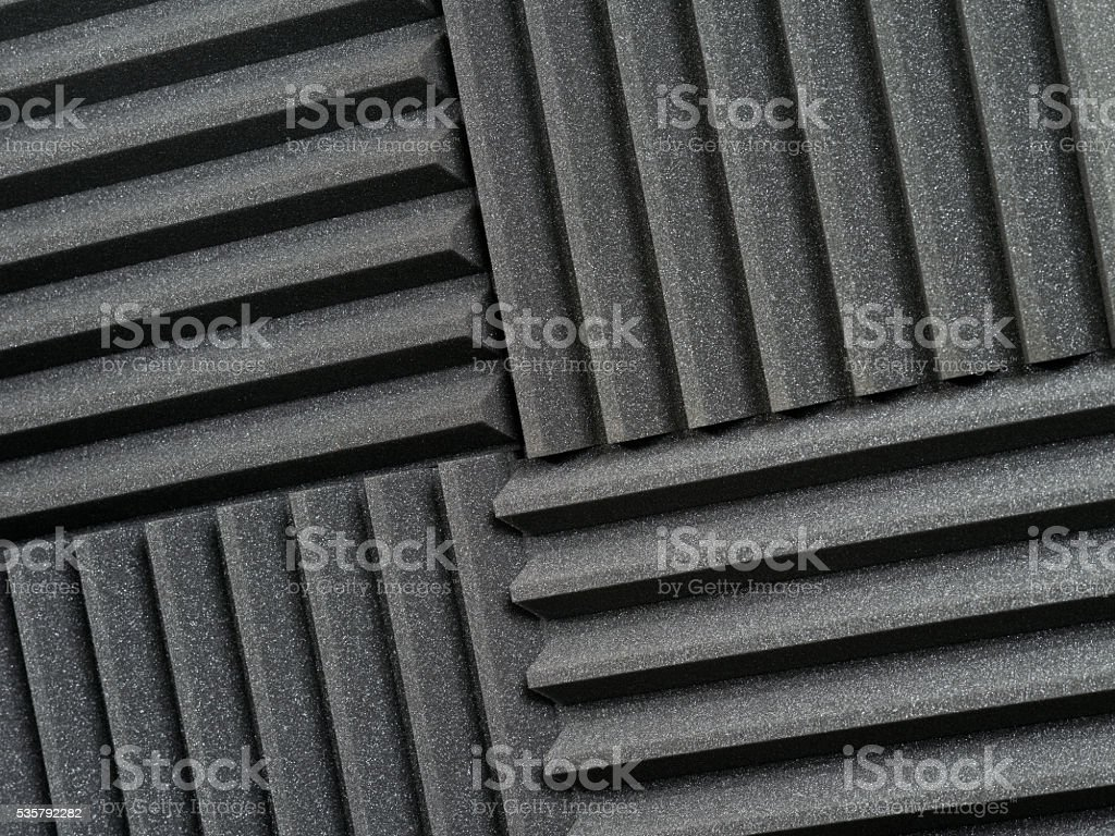 Recording studio acoustic tiles stock photo