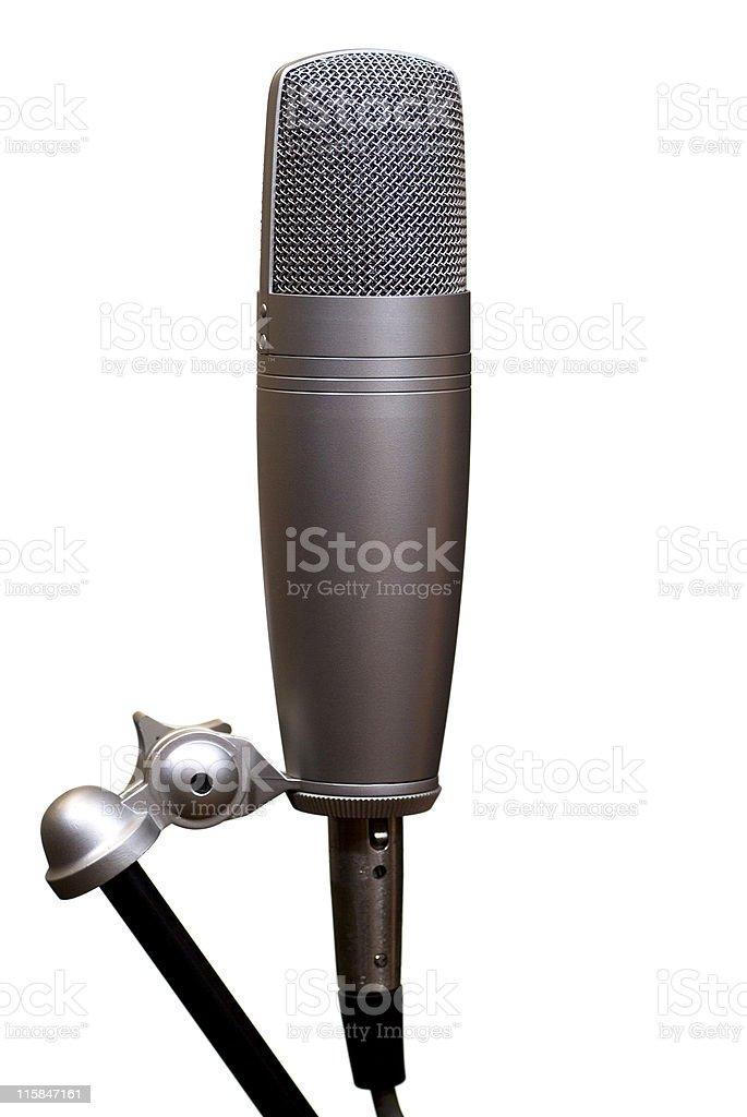 Recording studio microphone on white royalty-free stock photo