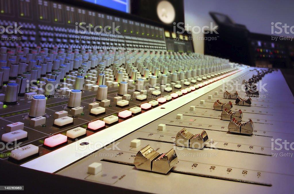 Recording Studio Mixing Console royalty-free stock photo