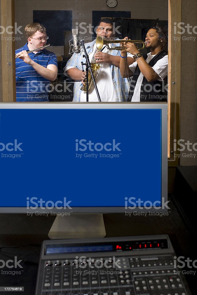 Recording Studio Musicians royalty-free stock photo
