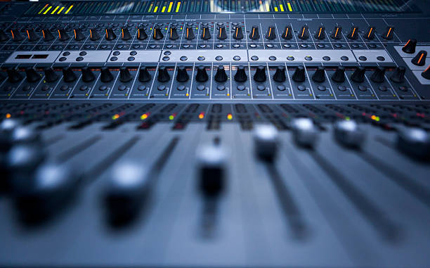 Recording Studio Sound recording studio sound mixer stock pictures, royalty-free photos & images